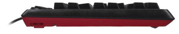 Logitech G105 Gaming Tastatur seitlich