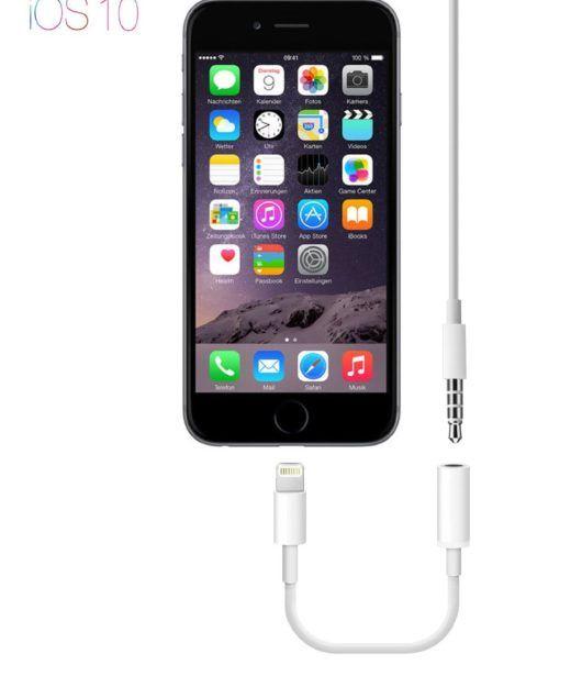 PhoneStar Lightning zu AUX Adapter Test iPhone Kopfhörer