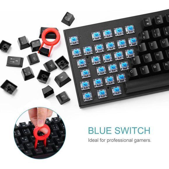 VicTsing Test mechanische Gaming Tastatur