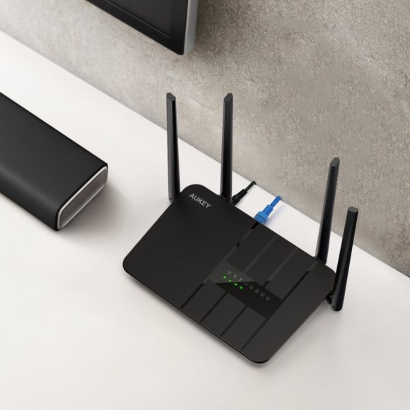 AUKEY WLAN Router AC1200 Dual-Band Test kabelloser Wireless-Router