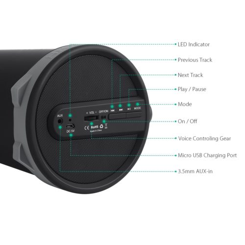 Aukey Bluetooth Lautsprecher SK-M18 Testbericht wireless Audiospeaker
