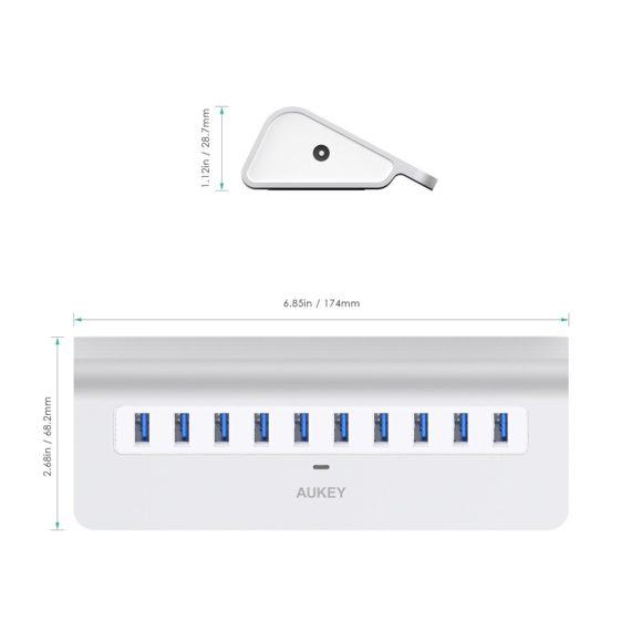 Aukey USB 3.0 10-Port Hub Testbericht USB-Verteiler