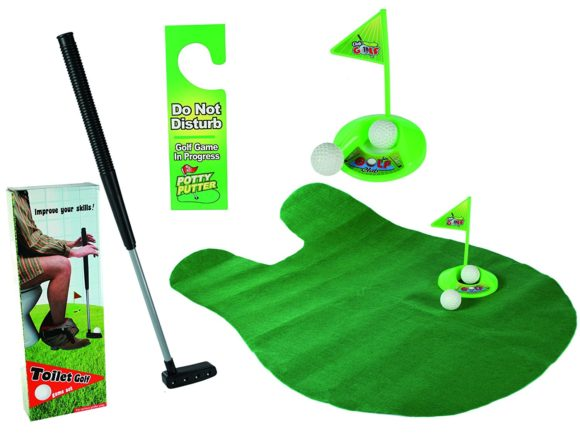 Out of the blue Toiletten Golf Set Test WC-Golf Putter
