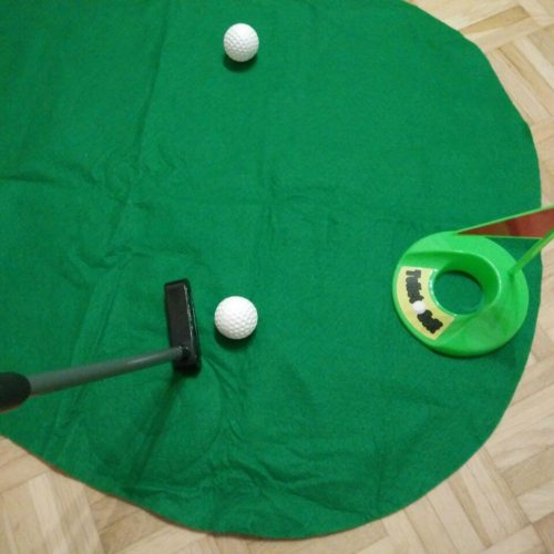 Out of the blue Toiletten Golf Set Test Klo-Golf putten