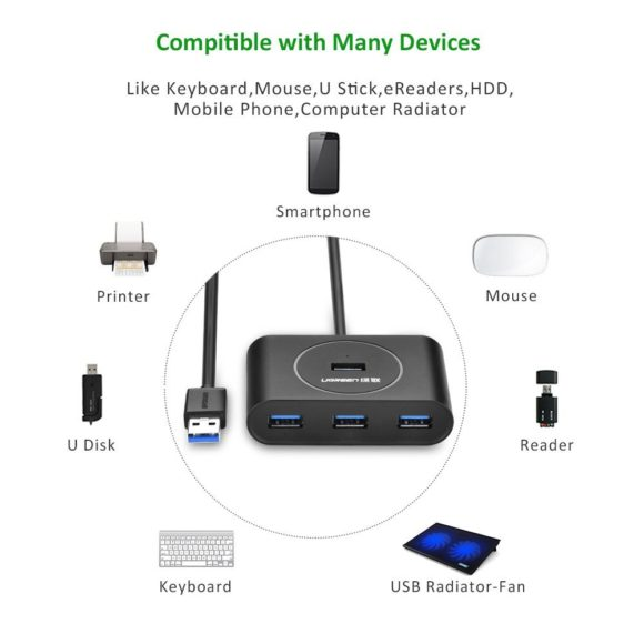 Ugreen 4-Port Super Speed USB Hub Test USB 3.0 Verteiler Rezension
