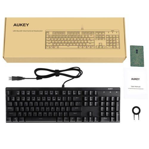 Aukey mechanische Tastatur Test Keyboard Anschlag