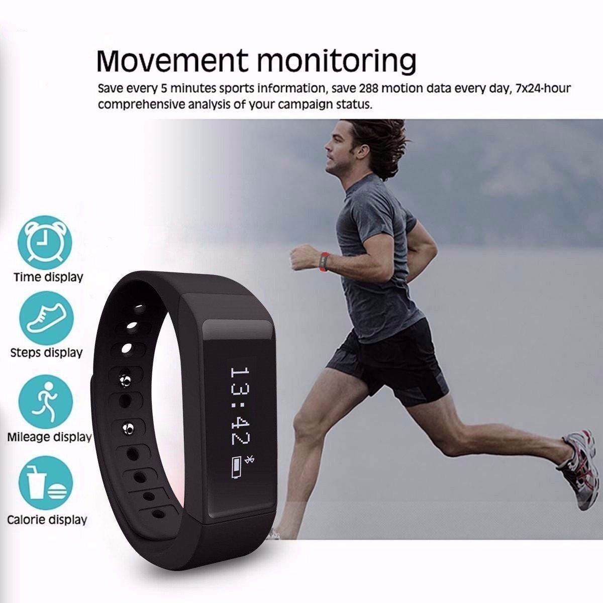 elegiant i5 plus fitness tracker test g nstiger fitbit. Black Bedroom Furniture Sets. Home Design Ideas