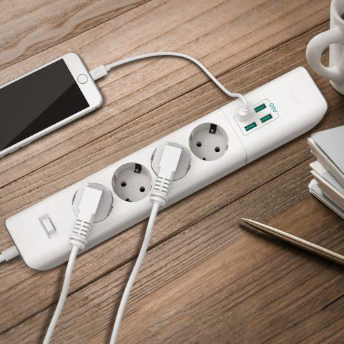 Aukey USB-Steckdosenleisten Test Verlängerungskabel