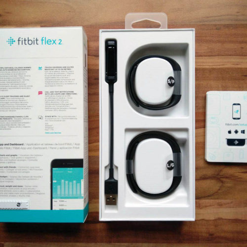 Lieferumfang des Fitbit Flex 2 Fitness Trackers