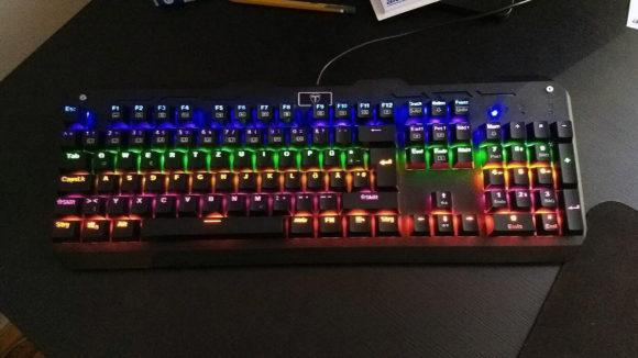 Programmierbare Beleuchtung der VicTsing Tastatur