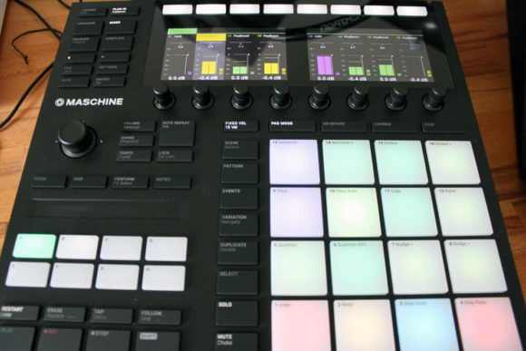 Hier ist die Mixer-Ansicht der Maschine Mk3 im Fokus.