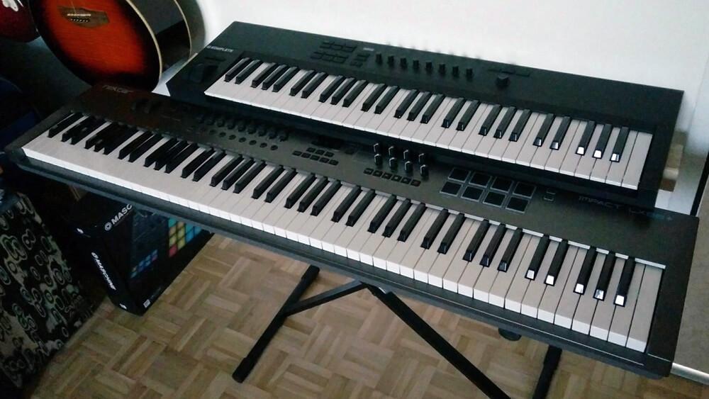 Das Nektar LX88+ Keyboard im Vergleich zu einem 61-Tasten-Controller.