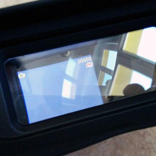 Ein erster Blick durch das Display der Fernglas-Kamera.