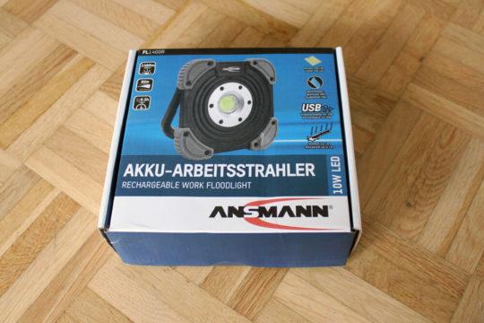 Ansmann LED Baustrahler mit Akku und 1400 Lumen