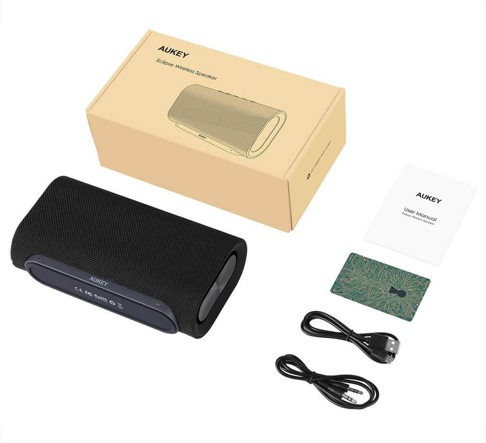 Der BT-Speaker ist auch in schwarz erhältlich, der Lieferumfang ist jedoch derselbe.