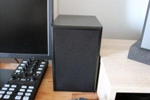 Die auvisio Stereoanlage wird mit zwei Lautsprechern geliefert.