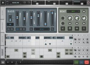 Die Bass- und Beat-Sektion inklusive Sequencer.
