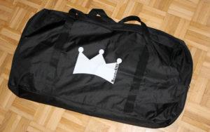 Auch eine Tasche für das Boarderking Fitnessbrett gibt es gegen einen geringen Aufpreis.
