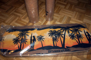 Das Boarderking Indoorboard vor dem Test noch in Plastikhülle.