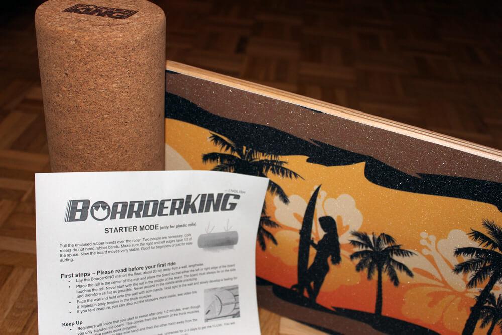 Das günstige Indoorboard im Hawaii-Themekommt in diesem Set.
