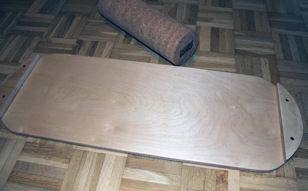 Unten ist das Indoorboard in Holzoptik belassen.