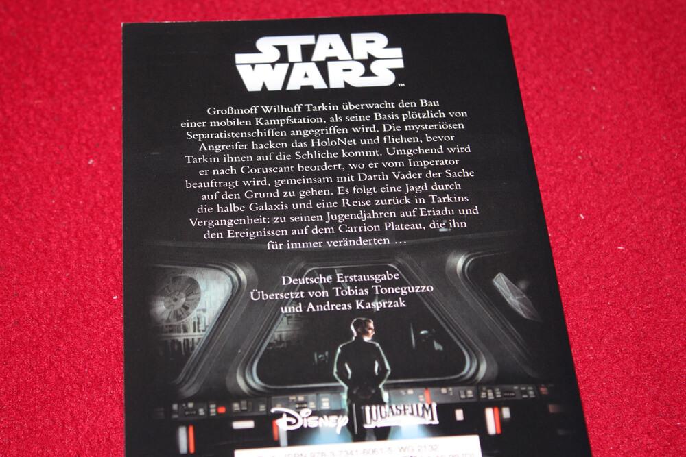 Die Rückseite von James Lucenos Buch Star Wars Tarkin.