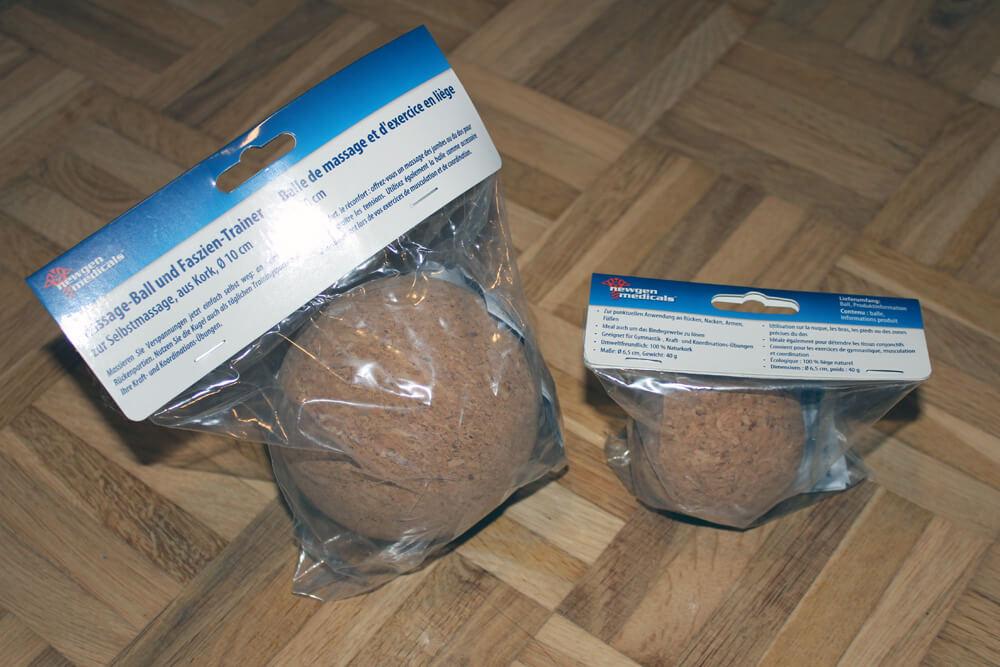 Hier die Massagebälle in der Originalverpackung.