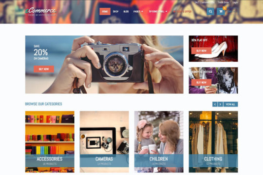 Farbenfroh und detailreich: das MTS eCommerce Theme ist vielseitig einsetzbar.