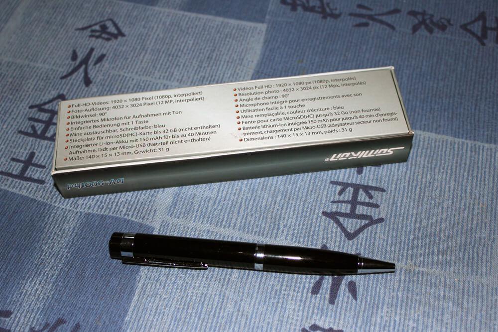Der Somikon Kugelschreiber-Videokamera Test des Modells V-900fhd umfasste die Auswertung aller vorhandenen Funktionen.
